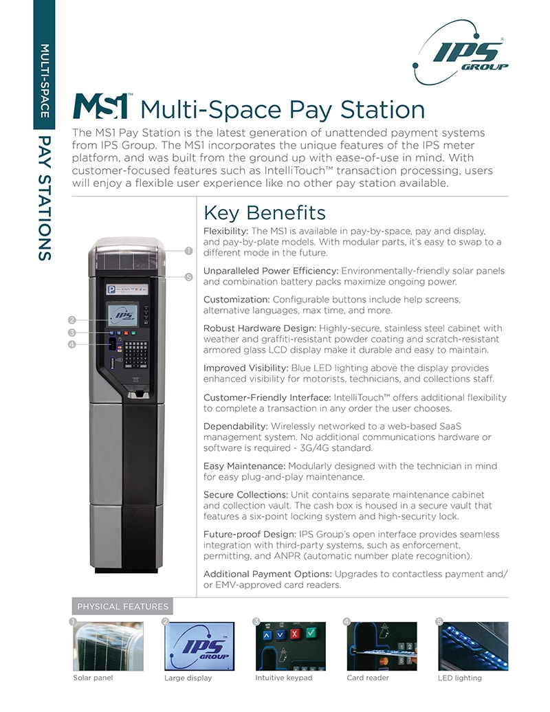 MS1 Multi-Space Pay Station