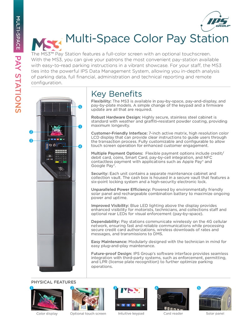 MS3 Multi-Space Color Pay Station