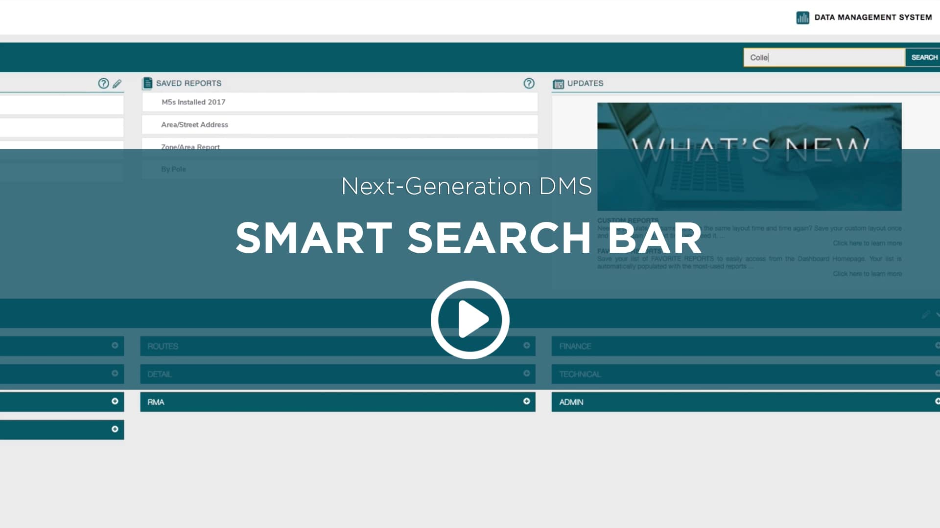 Next Generation DMS Smart Search Bar