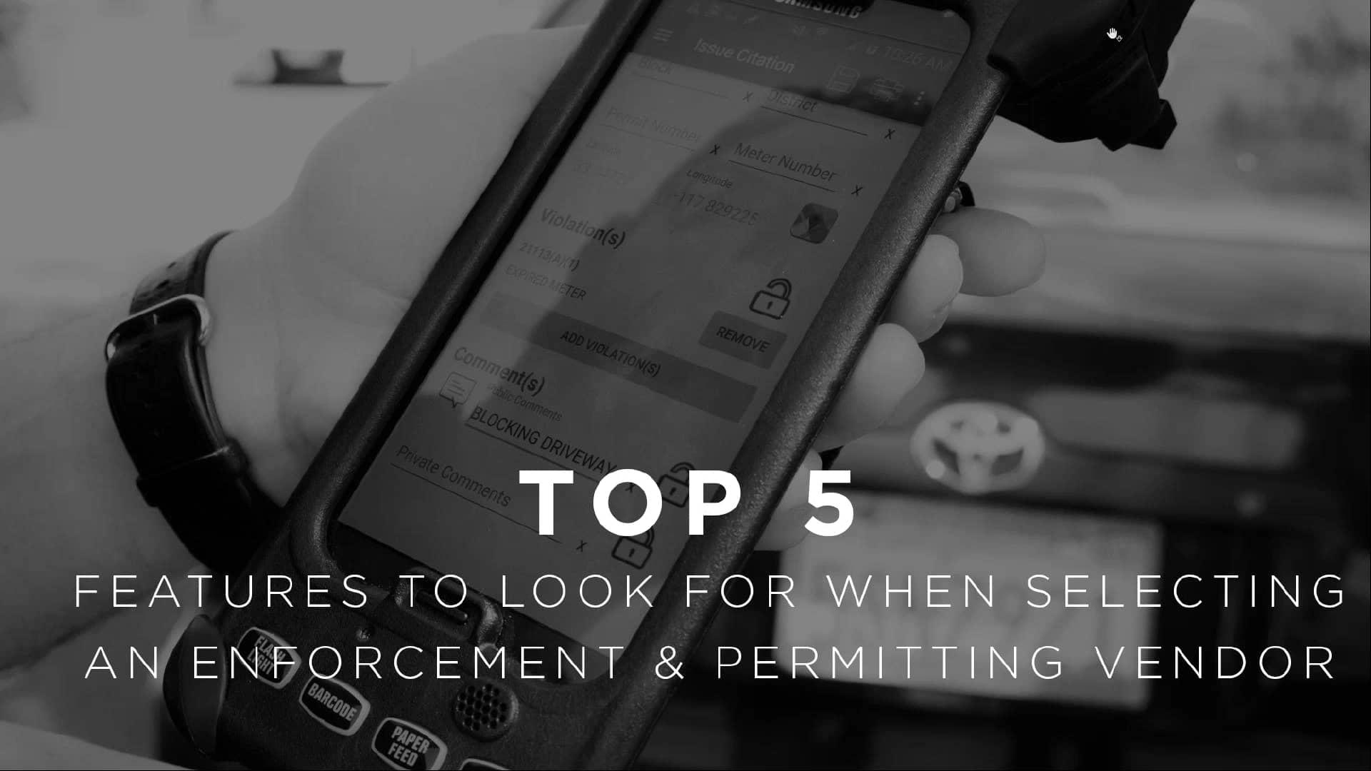 Selecting an Enforcement Permitting Vendor
